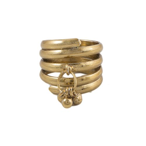 Gold Plated Challa Ring for Men and Women - Golden
