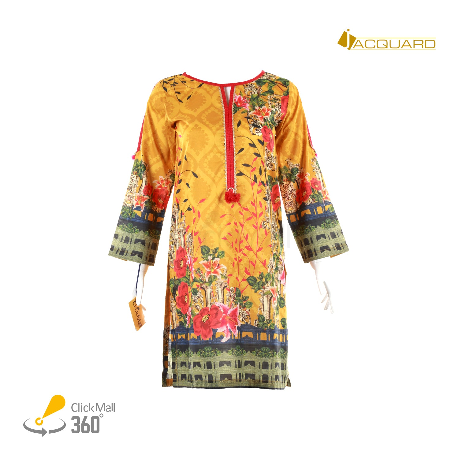 Jacquard Digital Lawn Shirt - JSSD-436