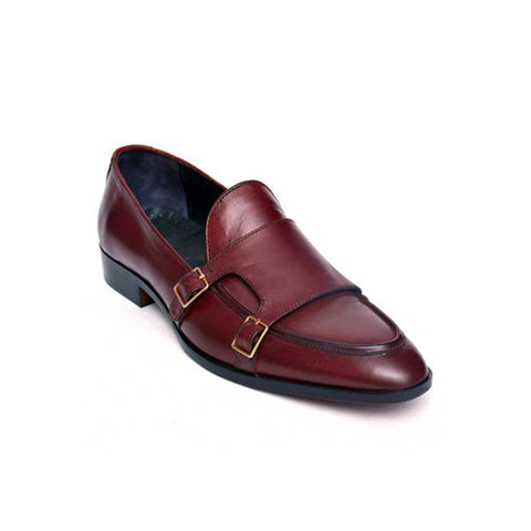 Mentorii Shoes Double Buckle Loafers JD 040 Brown
