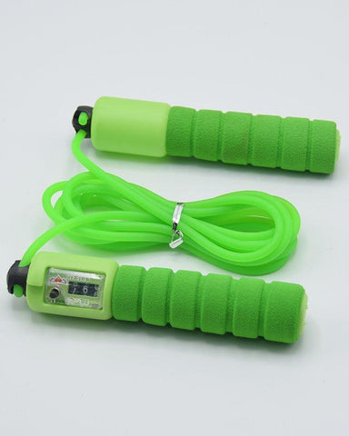 Skipping Jump Rope With Counter Foam Handles - Green