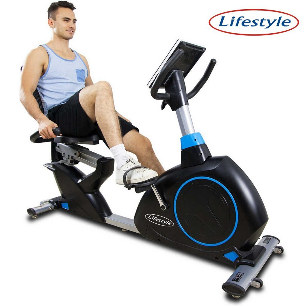 JS908LP - Semi Commercial Electro Magnetic Recumbent Bike - Black
