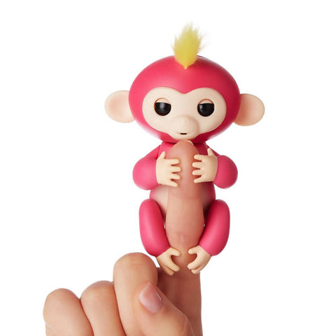 Finger Baby Monkey collect and have fun with them - Finger Interactive Electronic Pet Toy - Happy Monkey - Cerise - 5012