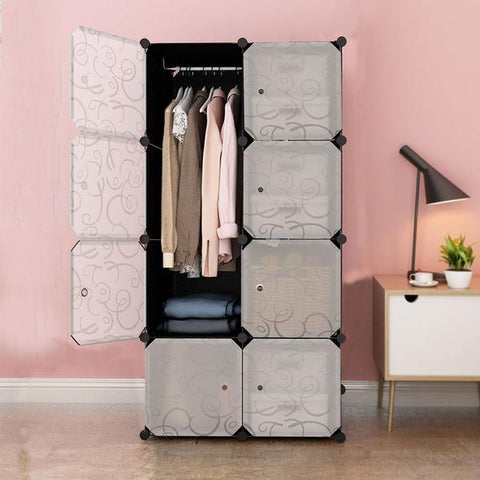 8 DIY Cubes Multi-Purpose Storage Organizer, Plastic Cabinet  - 070-BT8