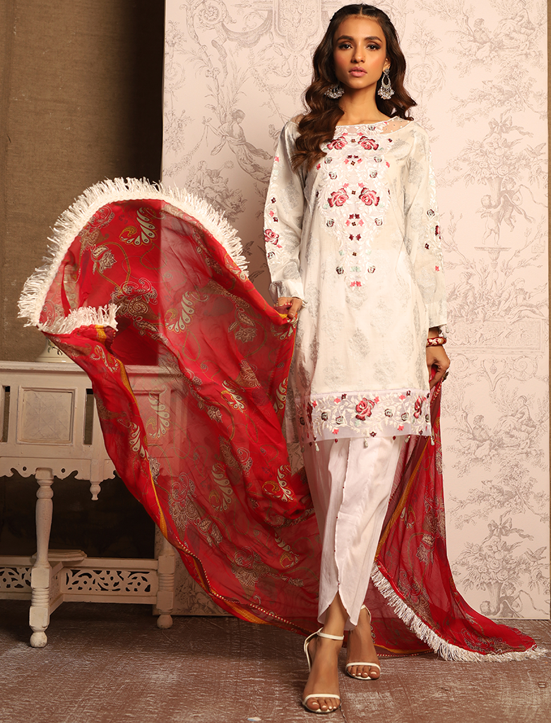 Khas Unstitched Lawn Collection Fleurir KC - 5073