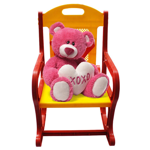 Baby & Kids Toy Rocker Chair High Quality Plastic - Red & Yellow 2162