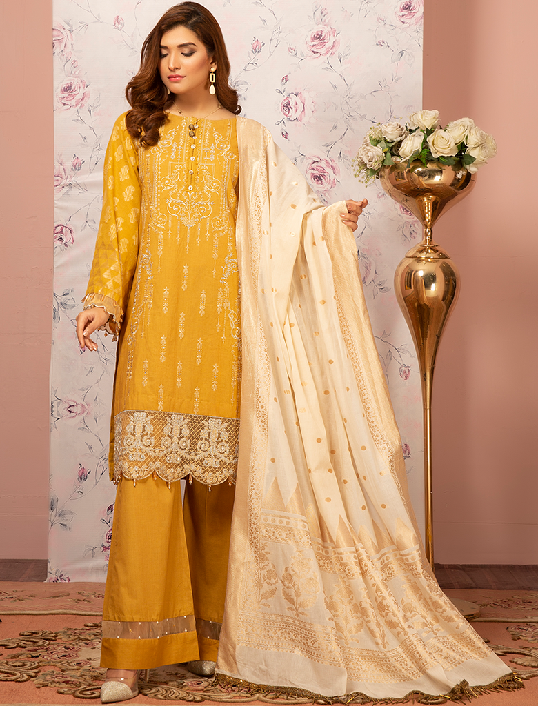 Khas Unstitched Lawn Collection Summer Bounty KJE - 19001
