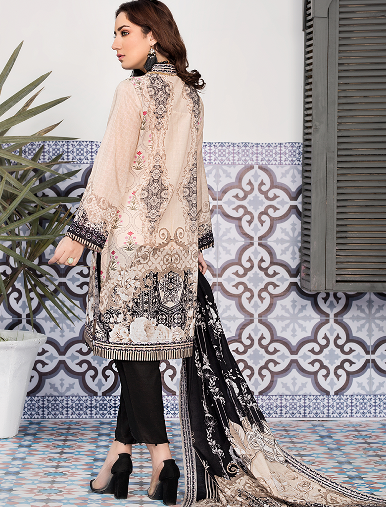 Khas Unstitched Lawn Collection Winsome Coquette KLA - 9090