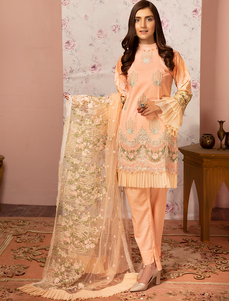 Khas Unstitched Lawn Collection Majestics KNE 7010