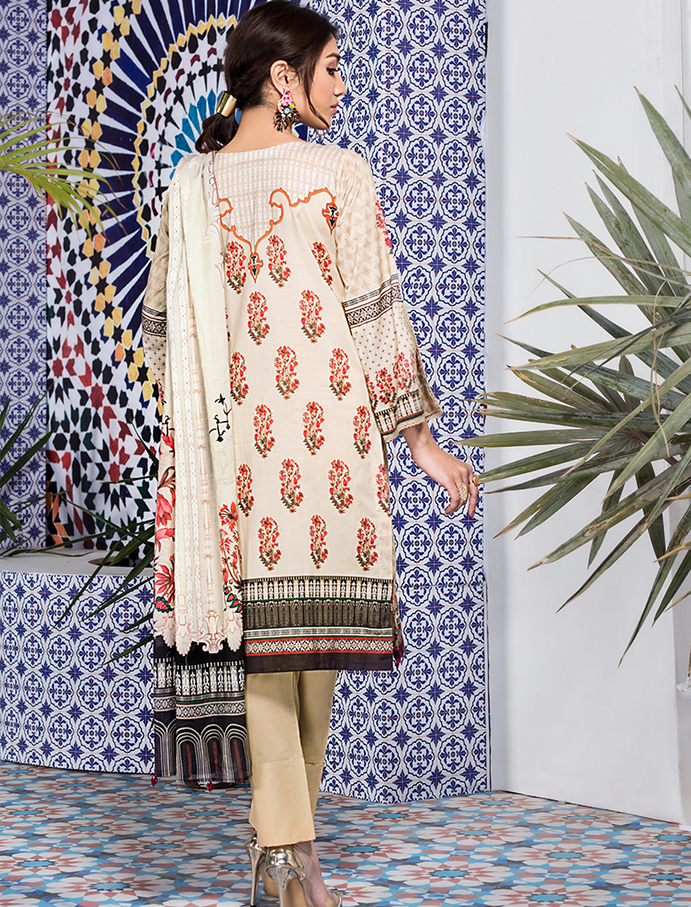 Khas Unstitched Lawn Collection Honey Hues KL - 4102