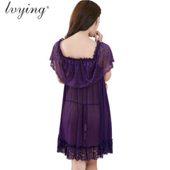 Ladies Adult See-Through Mesh Lace See Through Sleepwear