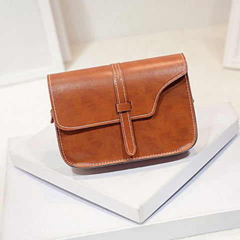 Shopping Mania Leather Satchel Crossbody Bag