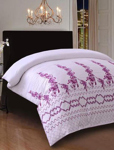 Khas New Collection Mauve Quilt Cover