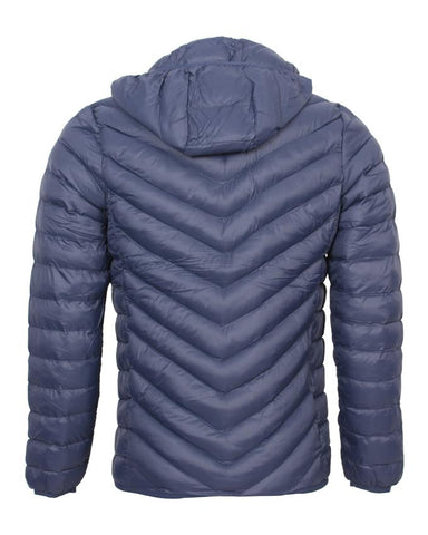 Blue Parachute Jacket Winter With Hood - Bilten Hands-free