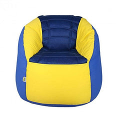 Polyester Sports Bean Bag Chair - Dark Blue & Yellow