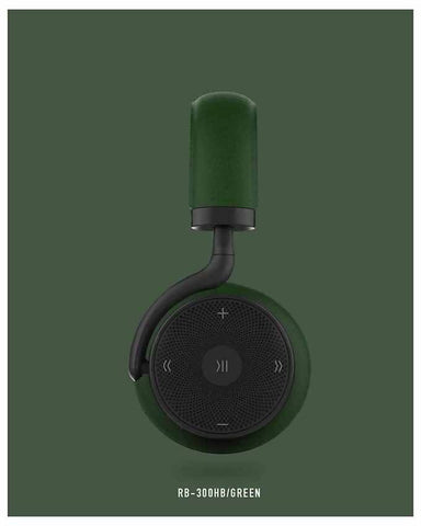 Remax RB-300HB - Bluetooth Headphone with Microphone - Green