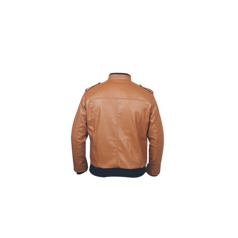 Men Slim Fit PU Leather Jacket B666 3