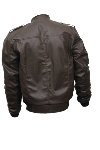 Men Slim Fit PU Leather Jacket B666