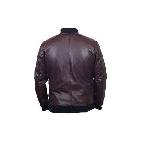 Men Slim Fit PU Leather Jacket BOOMBER CB