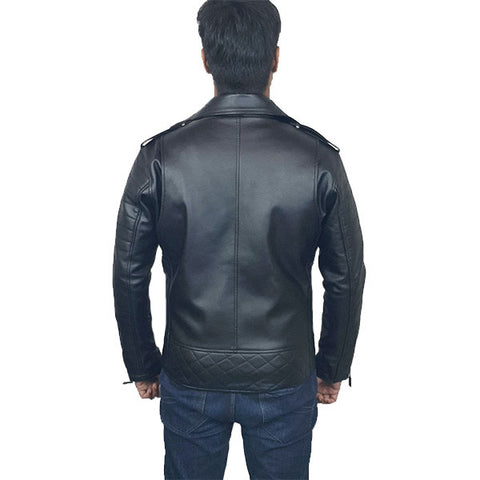 Mens Slim Fit Leather Jacket MB2
