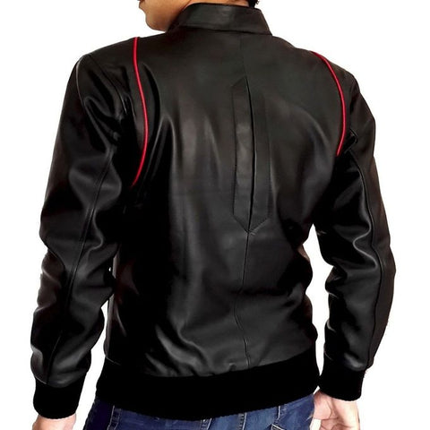 Mens Slim Fit Leather jacket A1