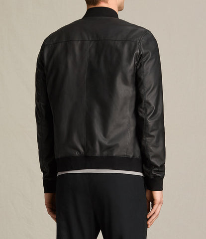 Mens Slim Fit Pu JACKET B2-Black