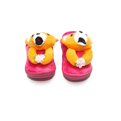 Shy Dog Kids Warm Woolen Slippers