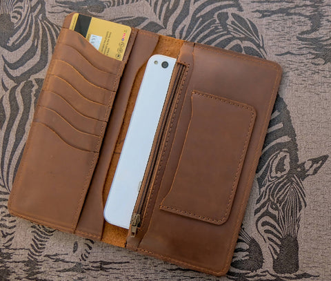 Genuine Long Leather Wallet