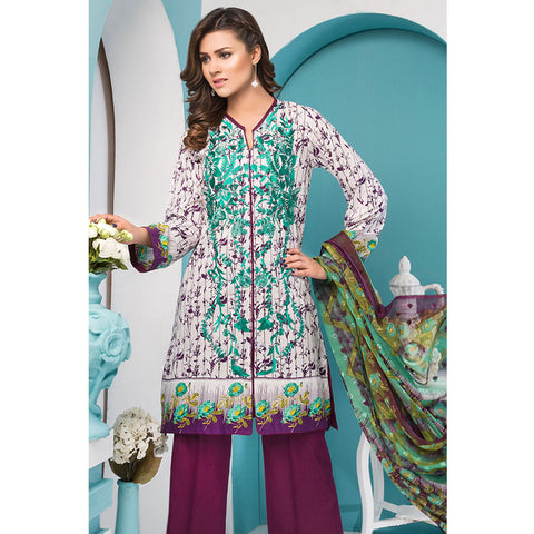 Noor Jahan Royal Couture Lawn Suit - NJ-208