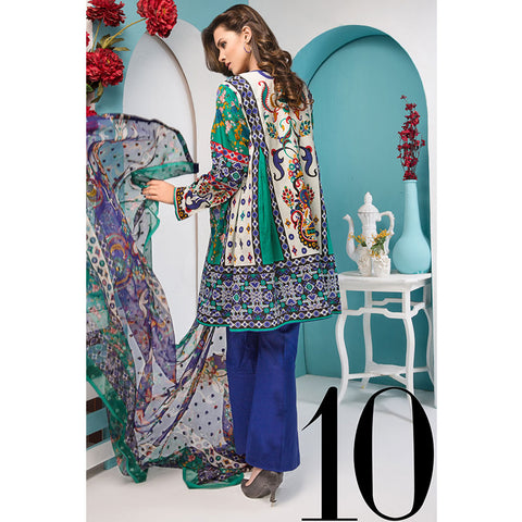 Noor Jahan Royal Couture Lawn Suit - NJ-210