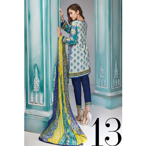 Noor Jahan Royal Couture Lawn Suit - NJ-213