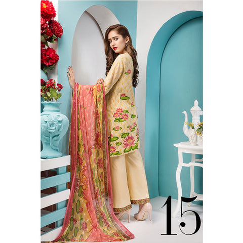 Noor Jahan Royal Couture Lawn Suit - NJ-215