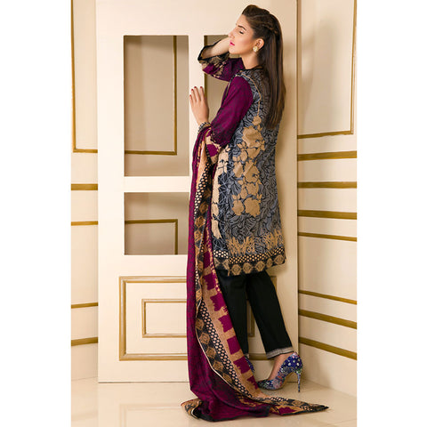 Noor Jahan Rough Beauty Lawn Suit - NJ-411