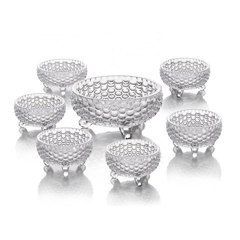 Set of 7 - Fruit & Ice Cream Set - Fish Textured - Crystal - 7224