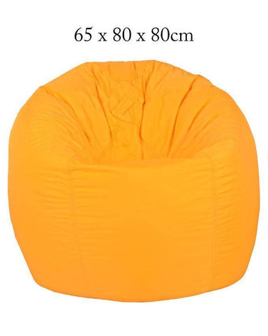 Relaxsit Puffy Fabric Bean Bag Chair - Yellow