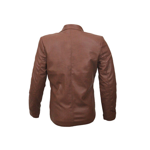 PU Leather Coats For Women HB004-Brown