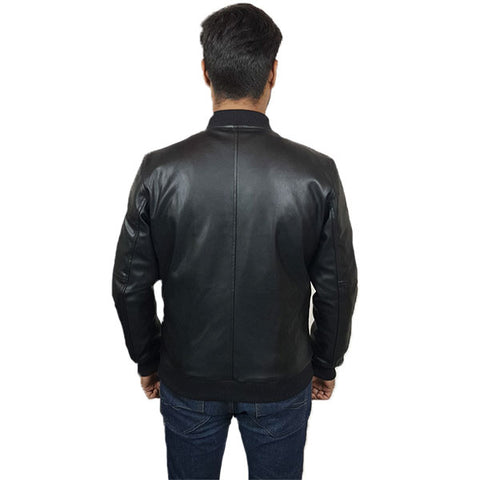 PU Leather Jacket For Men B1 Black