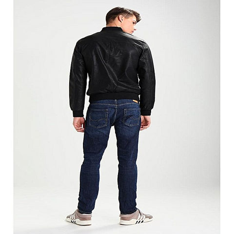PU Leather Jacket For Men B3-Black
