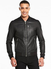 PU Leather Jacket For Men B4-Black