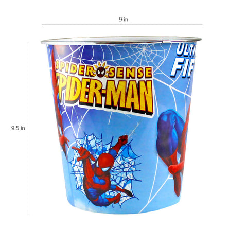Multipurpose Kids Room Basket with Spider man Print, Toy Basket  Blue