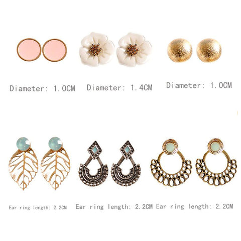 Shopping Mania Party Mashup 6 Pairs Earring Set
