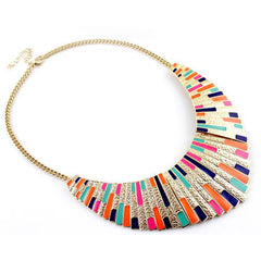 Shopping Mania Enamel Retro Necklace