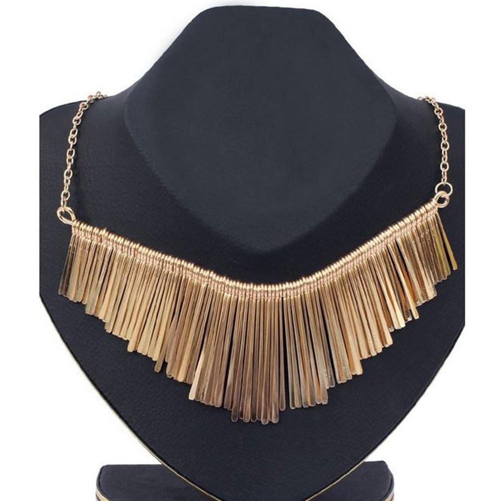 Shopping Mania Gold Sling Necklace