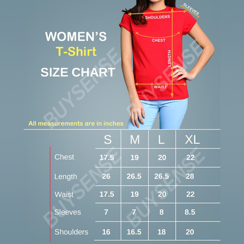 BuySense Printed Black Cotton T-Shirt For Women