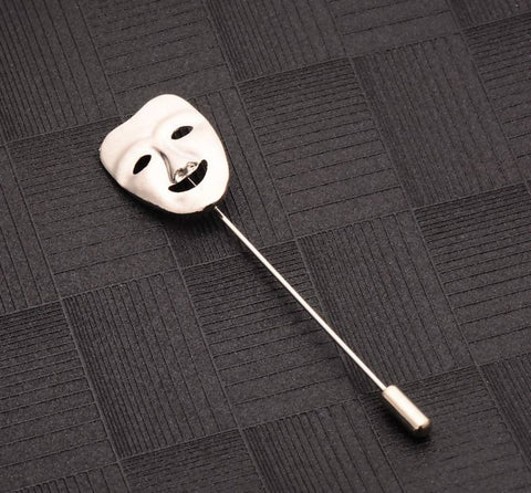 Happy Mask Lapel Pin Brooch
