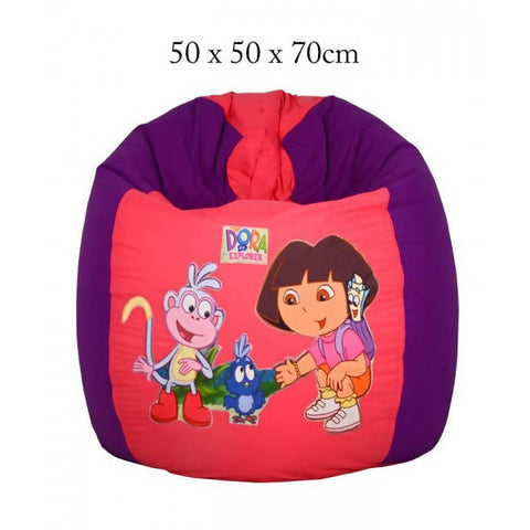 Relaxsit Dora The Explore Toddler Bean Bag Chair - Pink & Purple