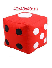 Ludo Dice Stool Bean Bag - Red