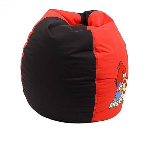 Relaxsit Angry Bird Toddler Bean Bag - Black & Red