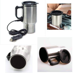 Electric Coffee Mug - Silver