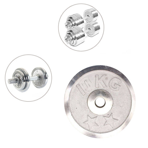 Weight Metal Plate - 10 Kg - Silver 8155-10-k