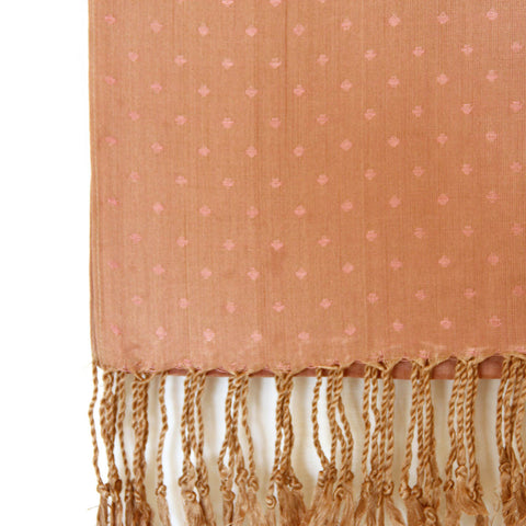 Light Pink Smooth Texture Viscose Dotted Hijab - THC-3PCM-B1-01